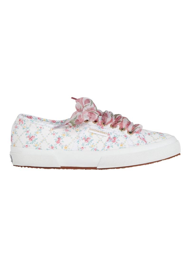 Superga x LoveShackFancy Floral Canvas Platform Sneakers