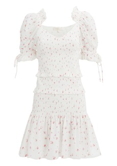 LoveShackFancy Tina Ruffle Mini Dress
