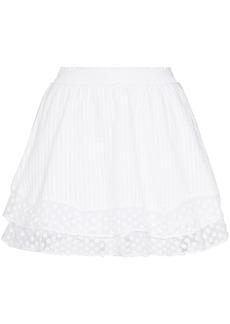 LoveShackFancy Toya lace-trim mini skirt