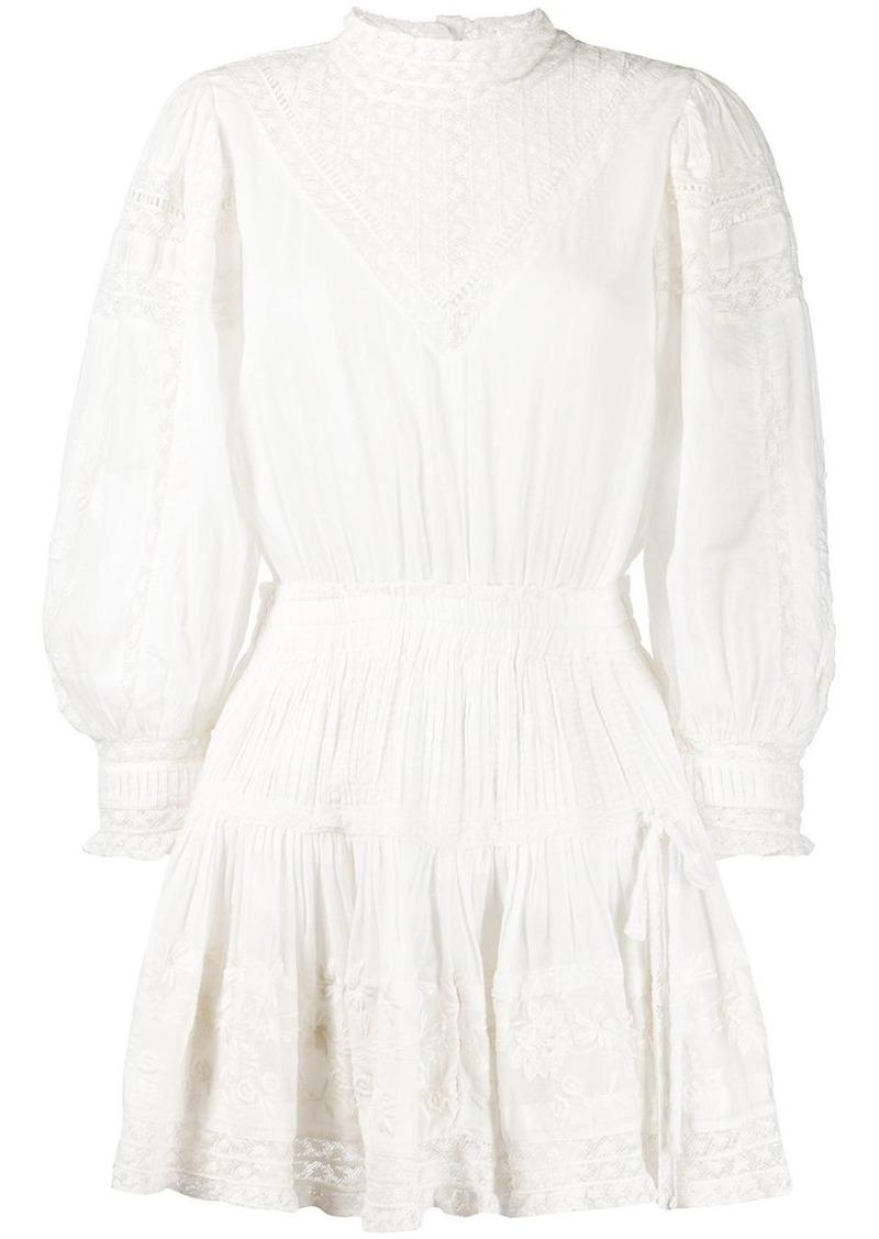 LoveShackFancy Viola embroidered flared dress