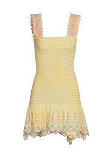 LoveShackFancy Wild Woods Jax Smocked Mini Dress