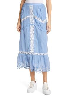 Women's Loveshackfancy Caius Lace Midi Skirt