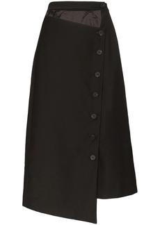 Low Classic asymmetric cut-out midi skirt