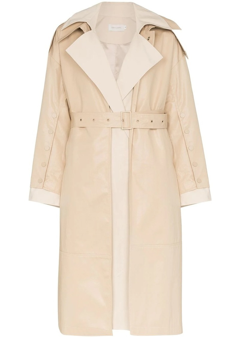 Low Classic belted cotton trench coat