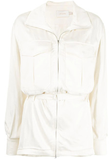 Low Classic belted-waist shirt jacket