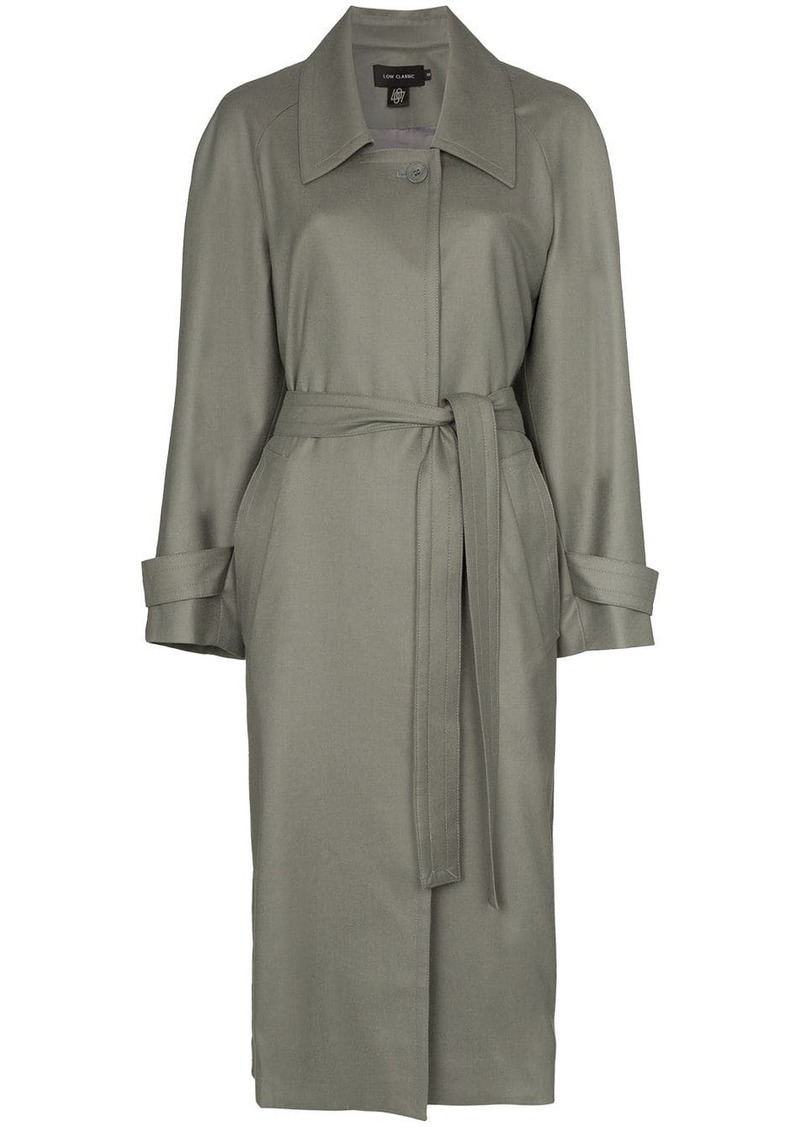 Low Classic collared trench coat