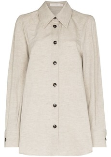 Low Classic contrasting-button long-sleeve shirt