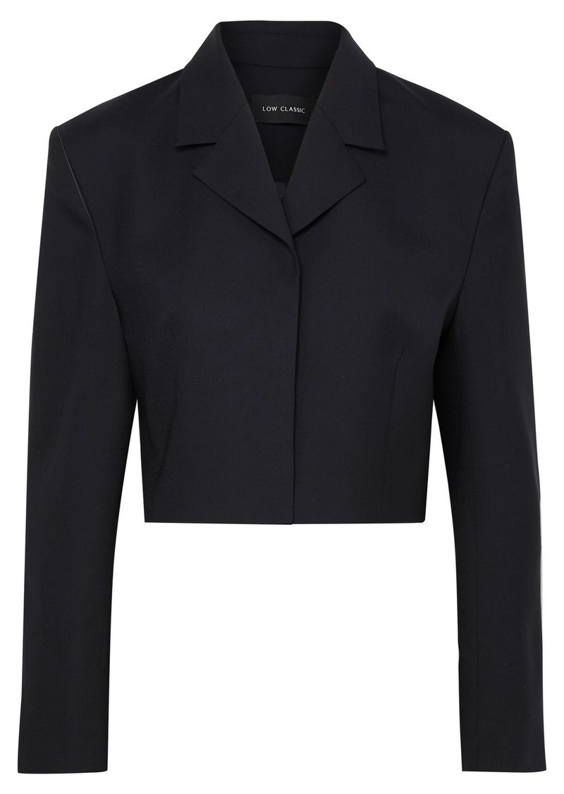 Low Classic Cropped Wool-blend Blazer