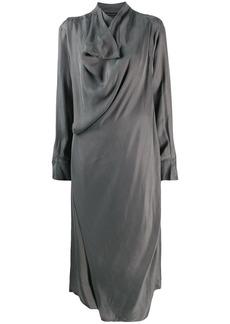 Low Classic draped detail midi dress