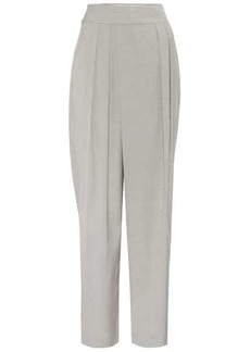 Low Classic High-rise tapered cotton pants