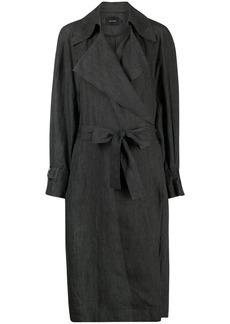 Low Classic linen trench coat
