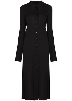 Low Classic long-sleeve buttoned midi dress