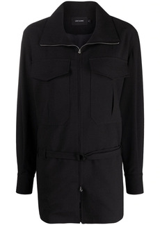 Low Classic patch pocket belted jacket