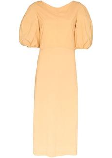 Low Classic puff sleeve midi dress