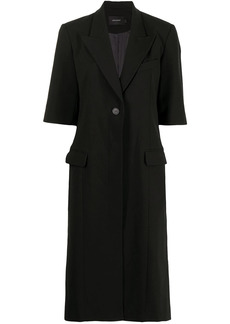 Low Classic short-sleeved single-breasted coat