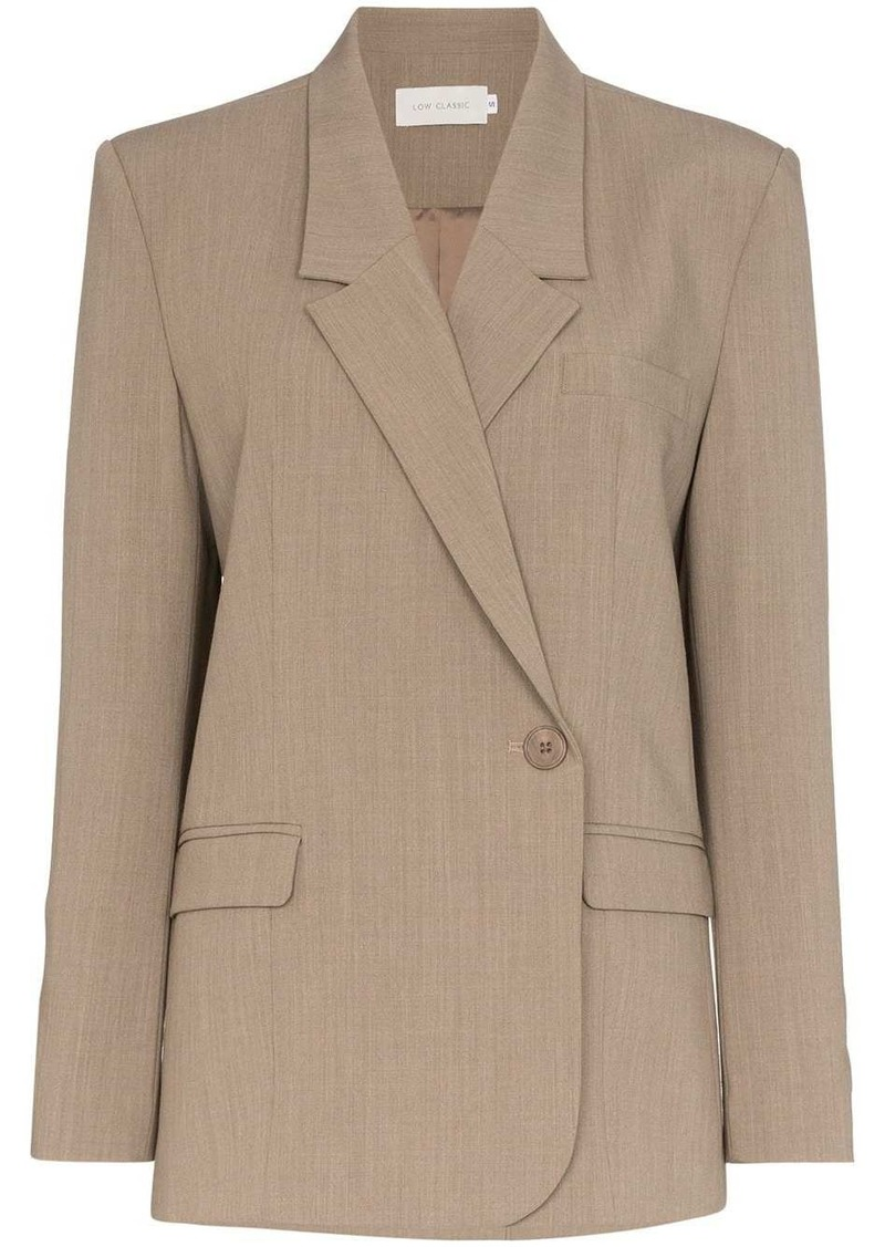 Low Classic off-centre fastening blazer