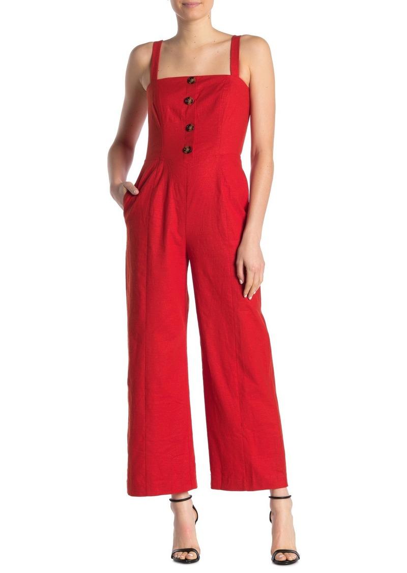 LPA Blanca Linen Blend Jumpsuit