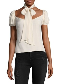 LPA Bow Tie Silk Top