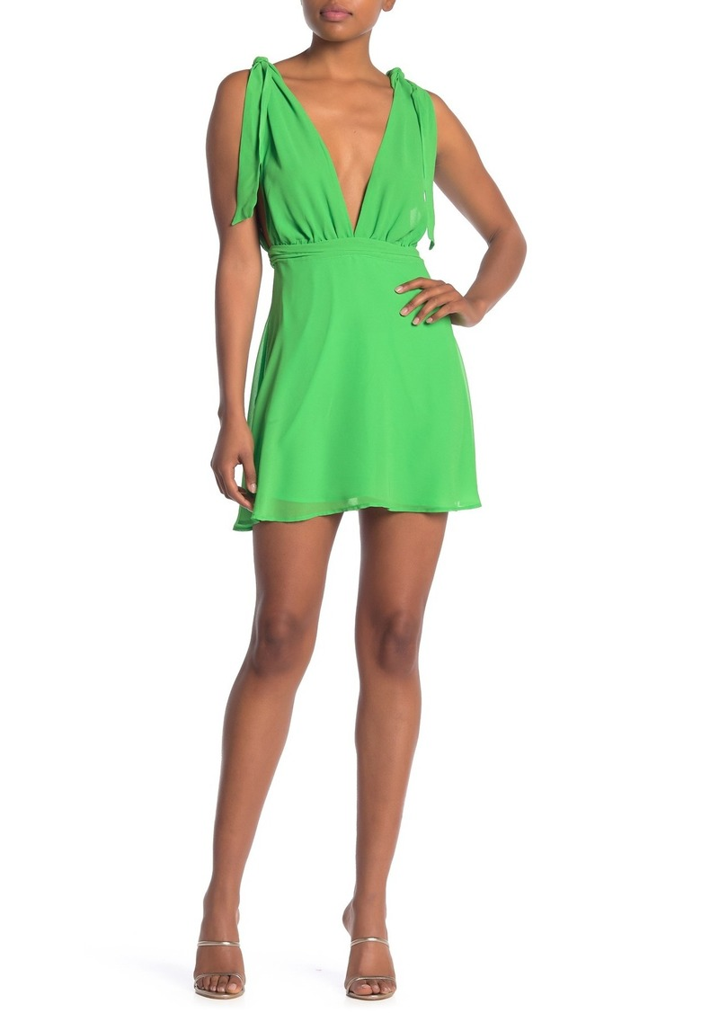 LPA Deep V-Neck Solid Dress