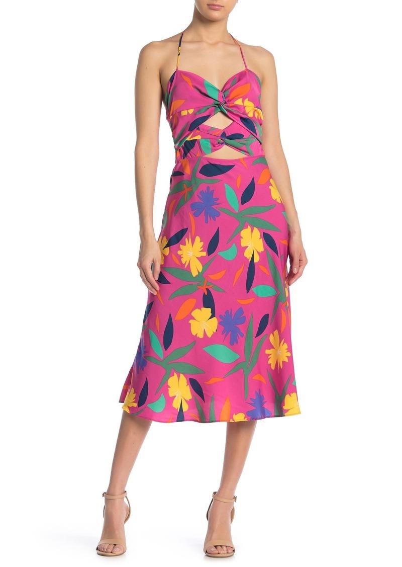 LPA Emilia Printed Halter Dress