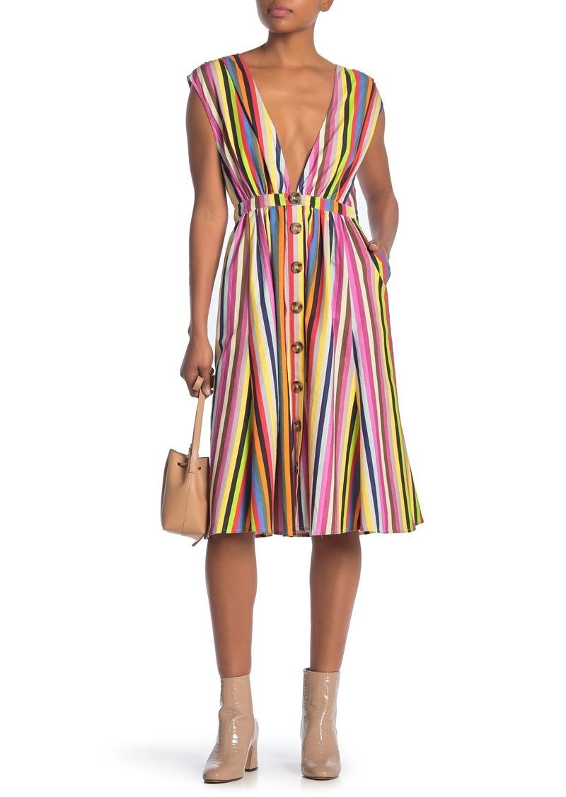 LPA Front Button Stripe Dress