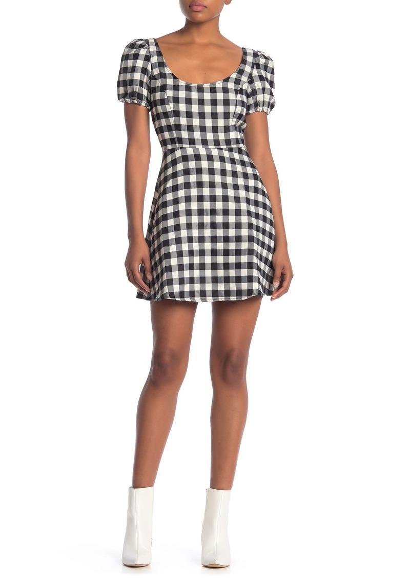 LPA Gingham Print Dress