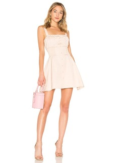 LPA Button Up Smocked Dress