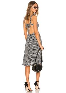 LPA Square Neck Midi Dress