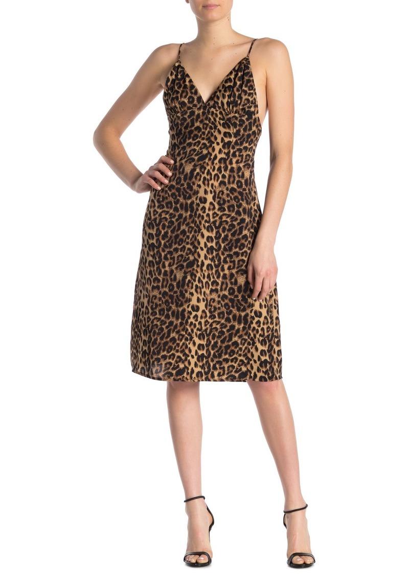LPA Lunetta Leopard Print Slip Dress