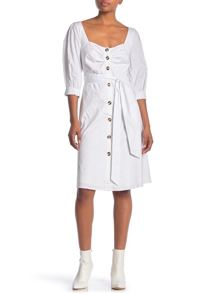 LPA Waist Tie Front Button Dress