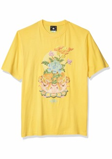 LRG Lifted Research Group Men's Japanese Art Inspired Knit T-Shirt  M