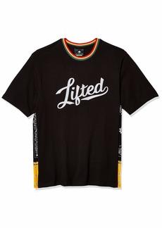 LRG Lifted Research Group Men's No Babylon Rasta Knit T-Shirt  S