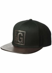 LRG Men's Hustle Trees Logo Flat Bill Snapback Hat