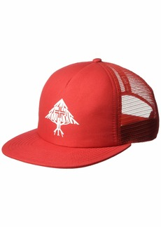 LRG Men's Hustle Trees Logo Flat Bill Snapback Hat red