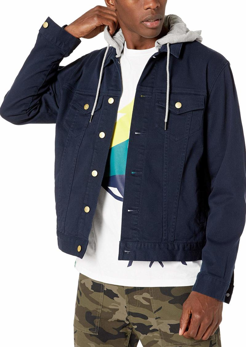 LRG Men's Lifted Research Collection Hooded Denim Jacket  M