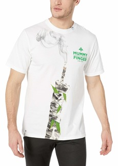 LRG Men's Lifted Research Group Mummy Finger Joint Pot Leaf T-Shirt  S