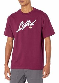 LRG Men's Lifted Research Group Script Logo T-Shirt  XL