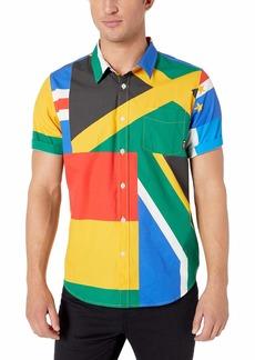 LRG Men's Lifted Research Group Short Sleeve Woven Button Up Shirt  3XL