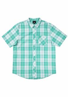 LRG Men's Lifted Research Group Short Sleeve Woven Button Up Shirt  2XL