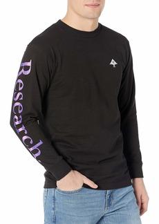 LRG Men's Long Sleeve Logo Design T-Shirt Research LS Black M