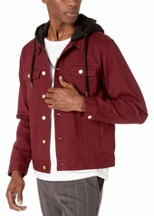 LRG Men's Research Collection Hooded Denim Jacket  M