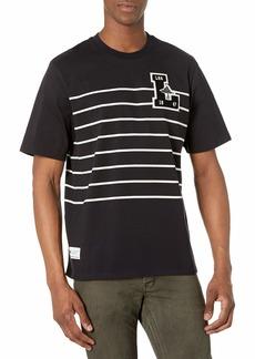 LRG Men's Short Sleeve Logo Design T-Shirt Natural LS Black XL