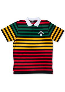 Lrg Men's Striped Colorblocked Polo Shirt