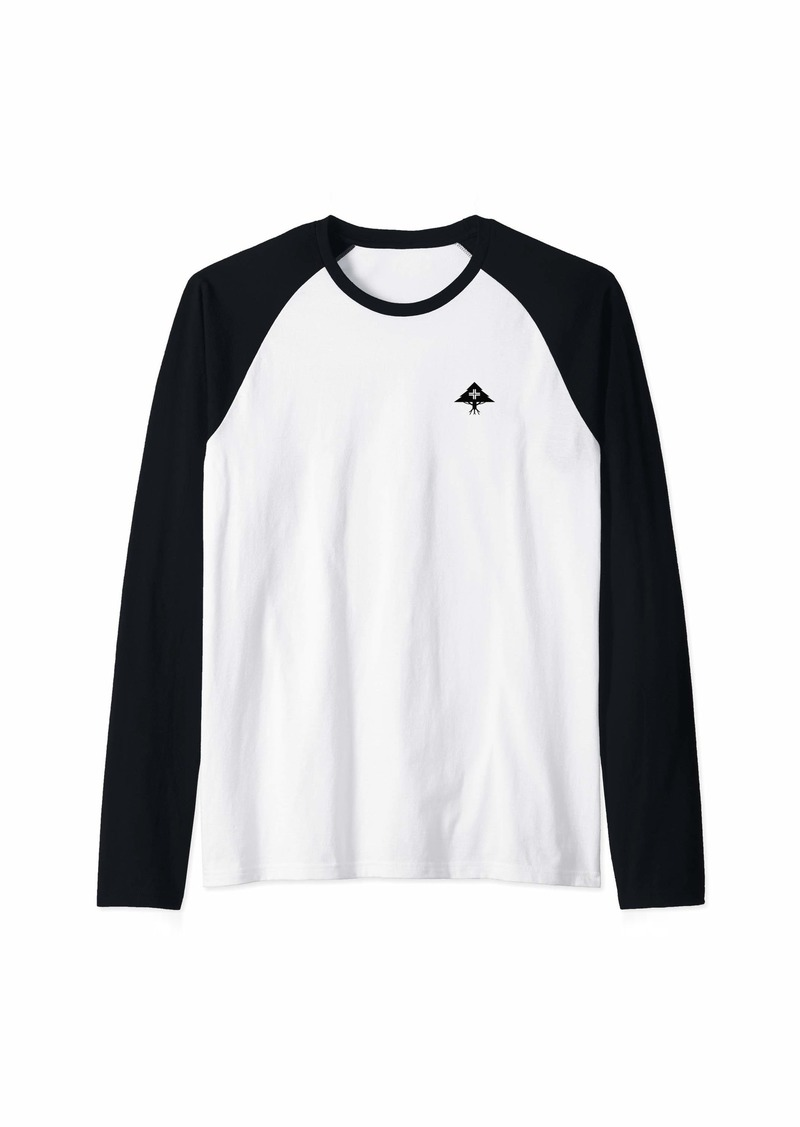 Mens LRG Hustle Trees Black Logo Raglan Baseball Tee