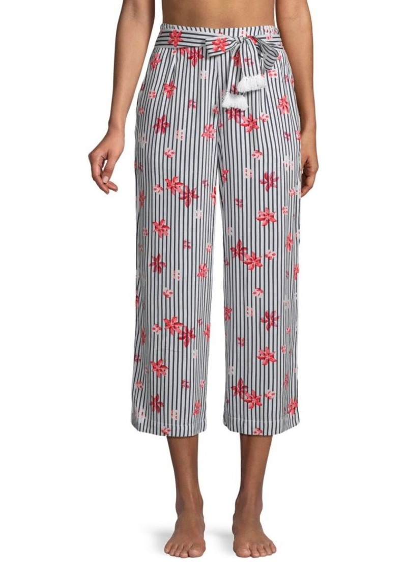 L*Space Floral Striped Cover-Up Pants