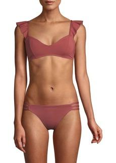 L*Space Harper Ruffle Bikini Top