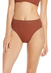 L*Space L Space French Cut High Waist Textured Swim Bottoms