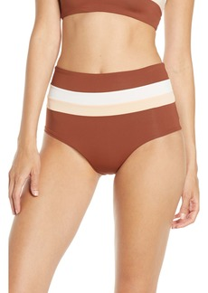 L*Space L Space Portia Reversible High Waist Stripe Bikini Bottoms