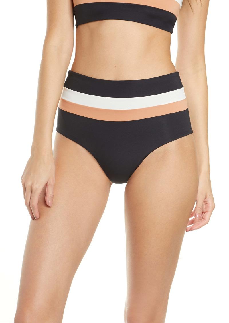 L*Space L Space Portia Reversible High Waist Stripe Bikini Bottoms
