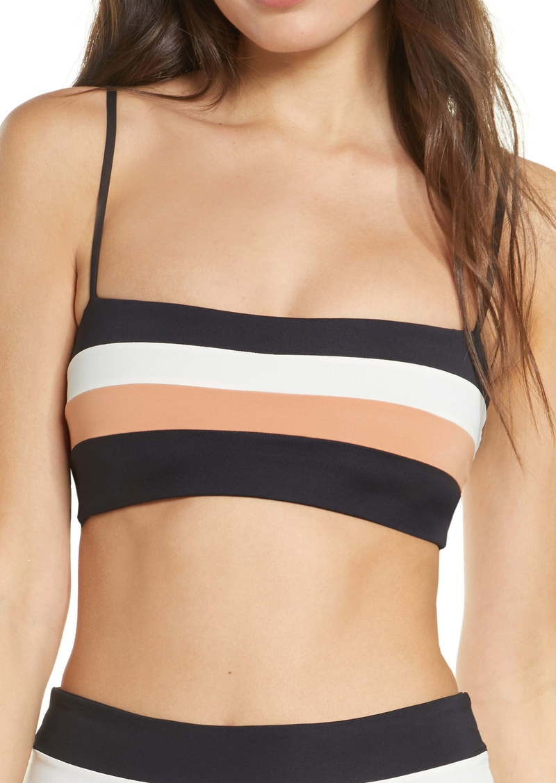 L*Space L Space Rebel Stripe Bikini Top